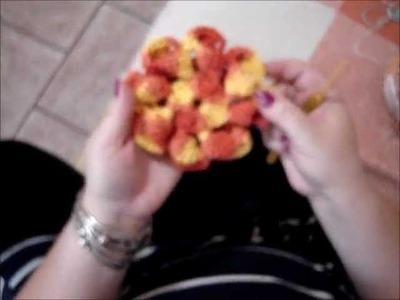 Flor Dália em Crochê