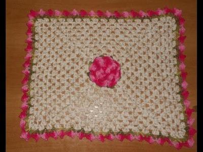 Tapete jogo banheiro croche floral parte 1