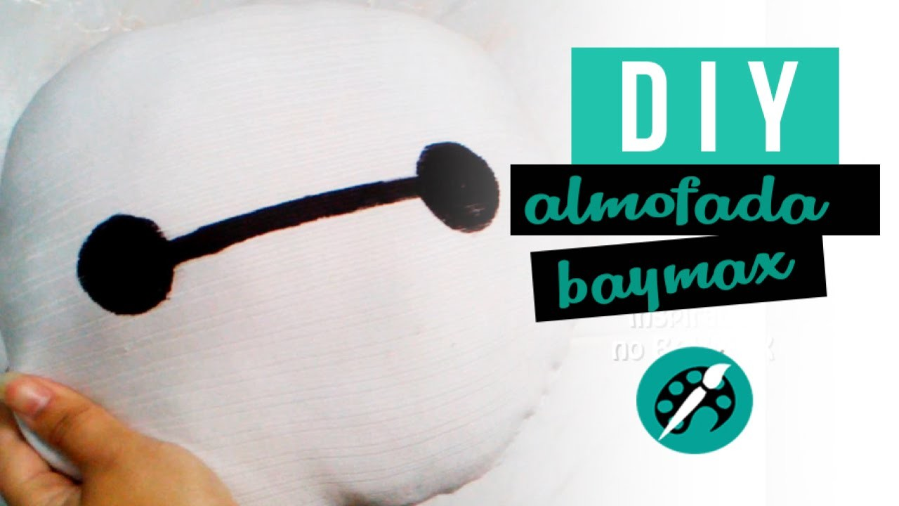 "DIY ALMOFADA DO BAYMAX ""BIG HERO"" ❤ GEEK TUTORIAIS"