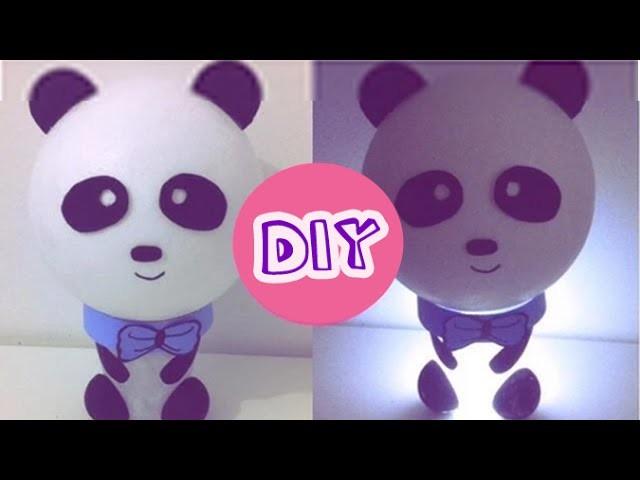 DIY: Luminária de panda (passo a passo) - decoração de quartos