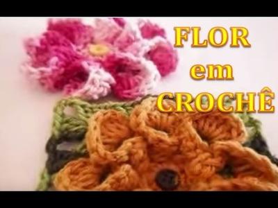 Flores - Crochê: FLOR DÁLIA,  de Olímpia  (Artesanato) passo a passo.
