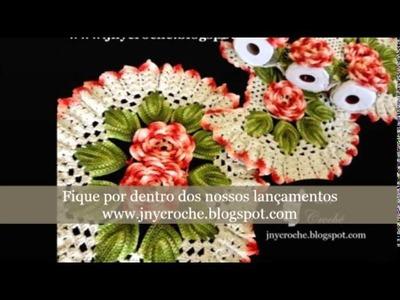 Jogo de banheiro de crochê com Flores Vários Modelos por JNY Crochê