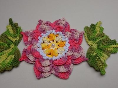 Flor de Crochê Para Aplicação no Jogo de Banheiro 04 - Flor Angel