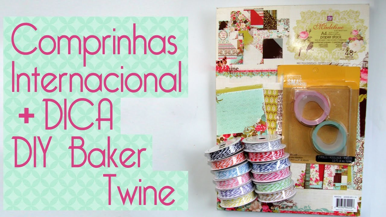 Comprinhas Internacionais + DIY Bakers Twine- Scrapbook by Tamy