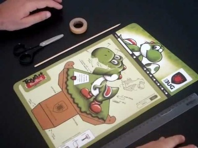RedBug: Paper Toy Yoshi_Montagem
