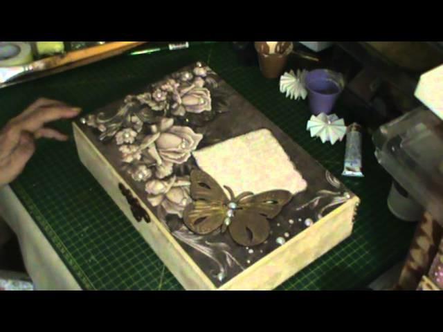 SCRAP DECOR: Tutorial de uma linda caixa borboleta parte 2