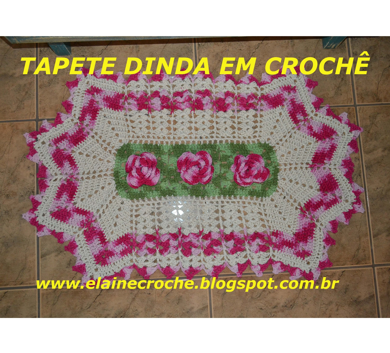 CROCHE PARA CANHOTOS - LEFT HANDED CROCHET - TAPETE DINDA EM CROCHÊ - CORPO E ACABAMENTO - CANHOTAS
