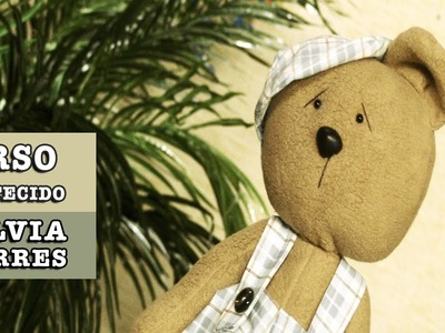 11.11.2014 - Urso de tecido (Silvia Torres)