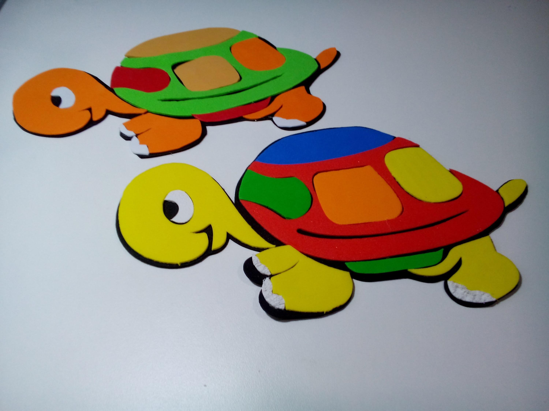 Aprenda a fazer tartaruga em EVA com Regina Art's passo a passo