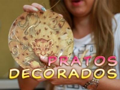 Artesanato: Pratos Decorados, Como fazer