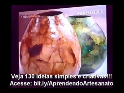 Artesanato - Vasos Artesanais  Com Filtro de Café Usado