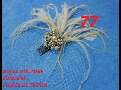 AULA 77: FASCINATOR COM VOILETTE (acessório de noiva)