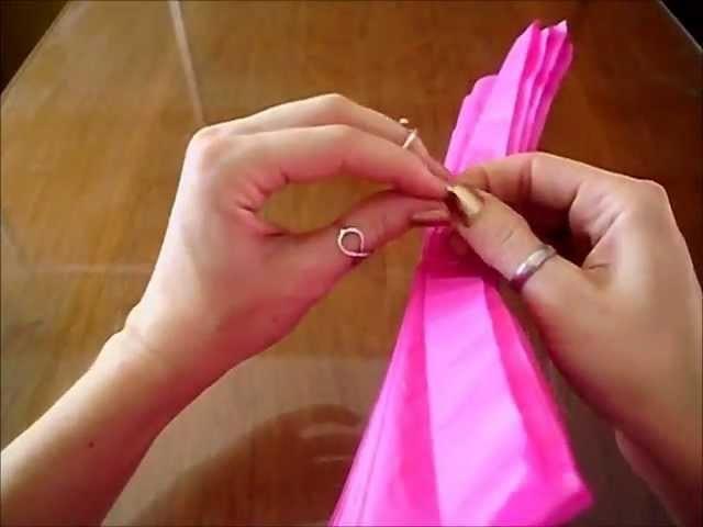 Bola (flor) de papel de seda
