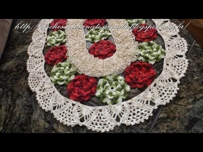 Como executar o bico do tapete em crochê Flores de Jardim Parte 3.3