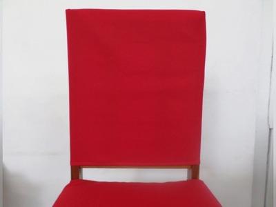 Como fazer Capa para Encosto de Cadeira