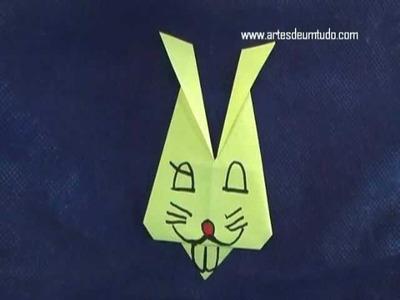 Como Fazer Origami de Coelho #01 Cabeça