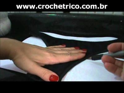 Crochet - Calcinha Branca - Parte 01.08