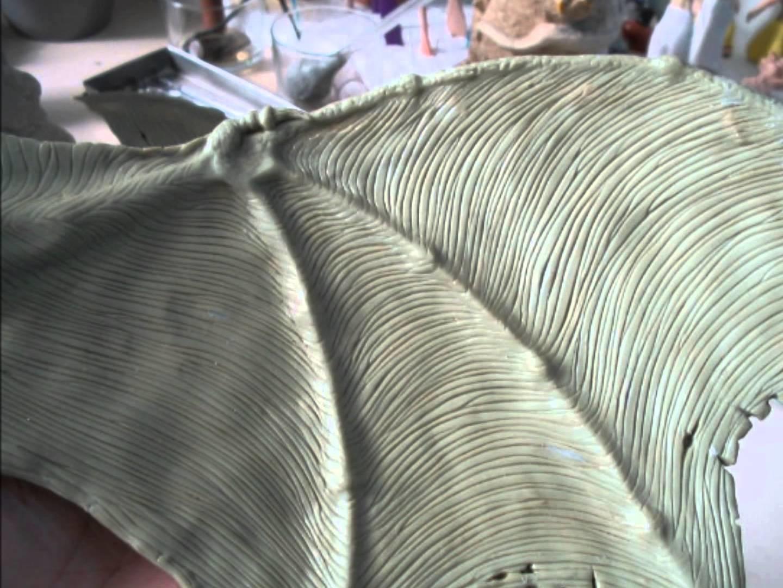 Escultura em massa de cerâmica plástica (polymer clay) - Dragão verde