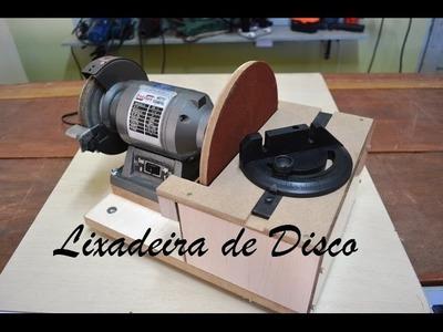 Lixadeira de disco caseira com motor de Esmeril