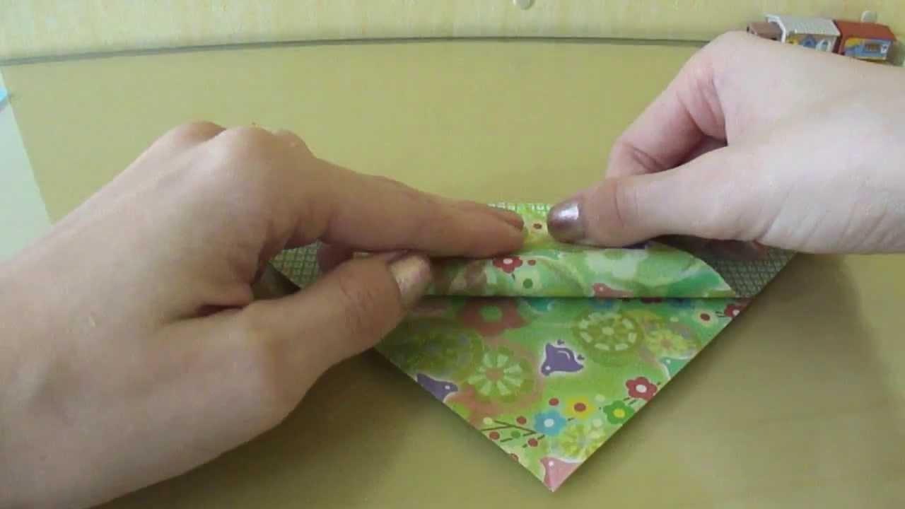 Marcador de páginas de origami
