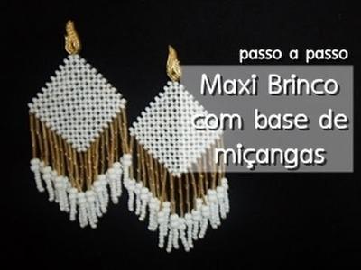 NM Bijoux - Maxi Brinco com base de miçangas