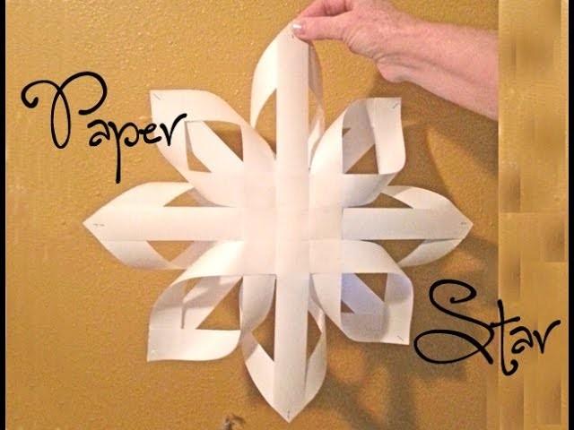 Paper Star Craft. Estrela de Papel.