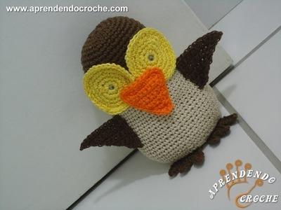 Peso de Porta em Croche - 1º Parte - Amigurumi Coruja de Croche