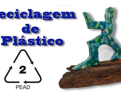Reciclagem de plastico caseira