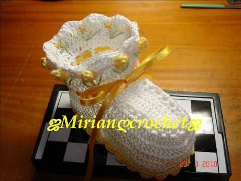 Sapatinhos de crochet  by ஜMirian-crochetஜ