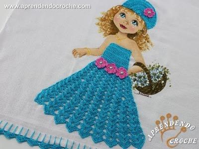 Vestido de Crochê p. Aplicação - Boneca Patricia