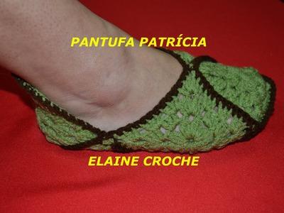 CROCHE PARA CANHOTOS - LEFT HANDED CROCHET - PANTUFA PATRÍCIA EM CROCHÊ - CANHOTAS