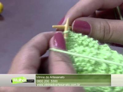 Mulher.com 02.07.2015 Jaqueline Santos - Conjunto em tricô para bebê Parte 1.2