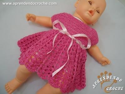 Vestido de Crochê Bebê Princesinha