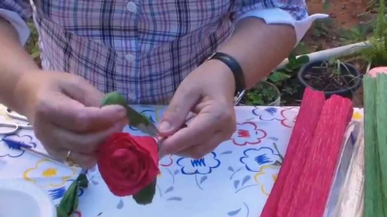 Rosa de Papel Crepom