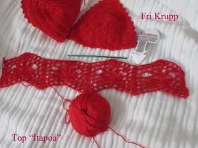 """Como fazer o Ponto em croche do meu Top """"Itapoá"""" - cropped"""