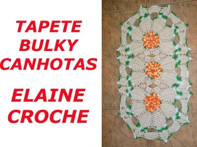 CROCHE PARA CANHOTOS - LEFT HANDED CROCHET - TAPETE BULKY CROCHÊ CANHOTAS