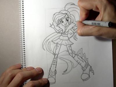 Como desenhar a Rainbow Dash de Equestria Girls