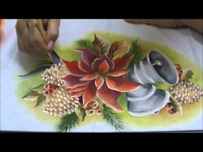 Pintura em Tecido Especial Natal ParteIII Flor Estrela de Natal.wmv