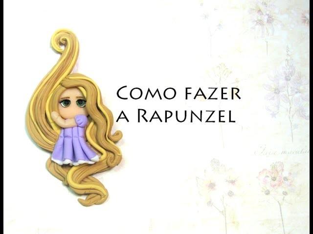 DIY Rapunzel tutorial passo a passo biscuit 3d PRINCESA - Viviana Biscuit