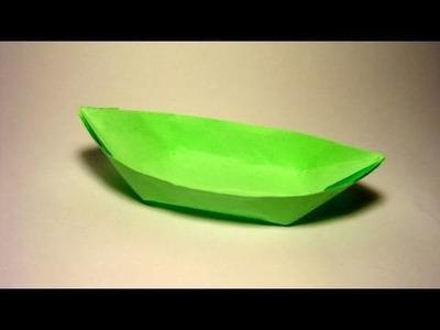Origami Boat (canoe)