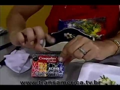 Tv Transamérica - Decoupage Craquelê Vitrificação - Parte1