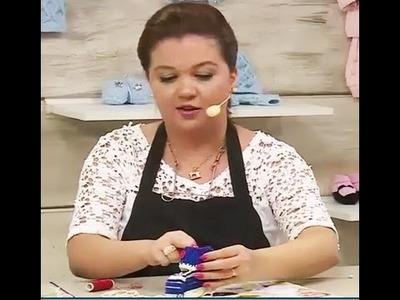 Sapatinhos de bebê Maria e João com Jaqueline Santos | Vitrine do artesanato na TV