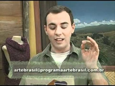 ARTE BRASIL -- CLAUDIA MARIA -- COLETE VERSÁTIL EM TRICÔ (25.03.2011 - Parte 2 de 2)