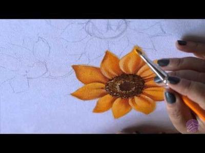 Pintura em tecido Eliane Nascimento: Girassol