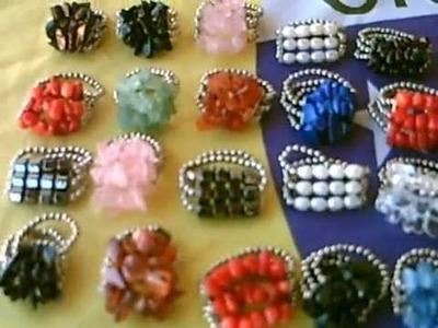 Anéis de cascalhos de pedras
