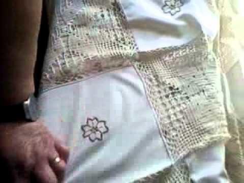 Bordado Madeira toalha de mesa. crochet