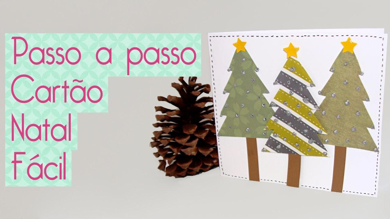Cartão de Natal Fácil- Scrapbook by Tamy