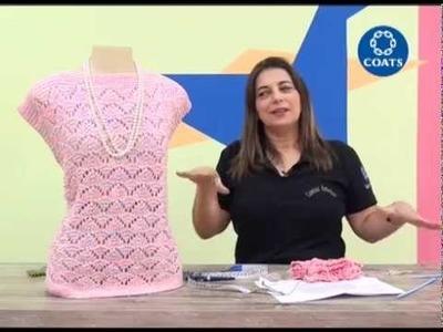 Cristina Amaduro ensina blusa Denancyr