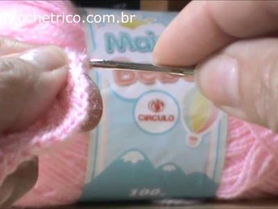 Crochê - Sapatinhos Pipoca (0 à 3 meses) - Parte 02.04
