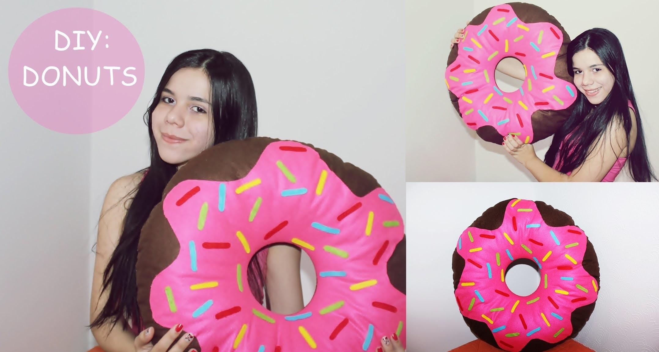 DIY Almofada de Donuts - Faça Você Mesma